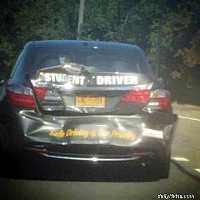 student driver car funny picture