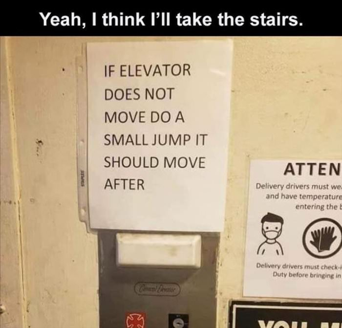 the stairs are fine today