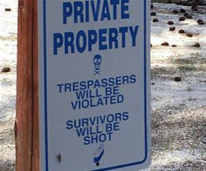 this is private property funny picture