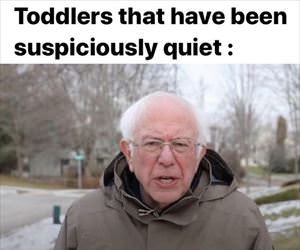 toddler is quiet