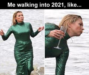walking into 2021