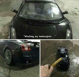 washing my lambo