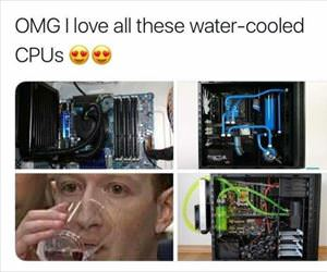 water cooled CPU