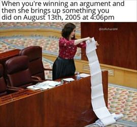 winning an argument ... 2