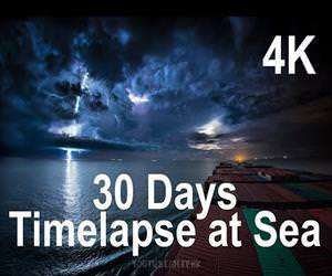 30 day time lapse from cargo ship Funny Video