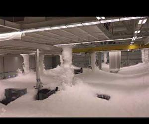 Fire suppression test helcopter facility Funny Video
