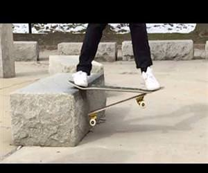 Guy Recycles Broken Skateboards Into New Boards Funny Video