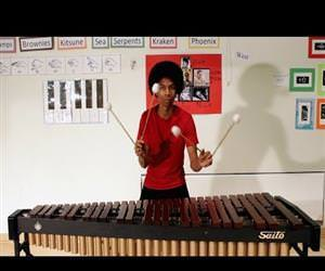 Super Mario Bros. on Marimba Funny Video