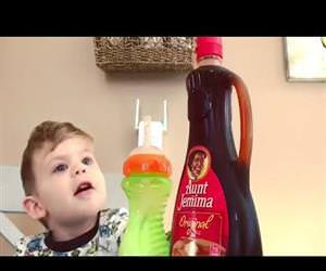 Toddler cannot believe the magic trick Funny Video