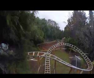 amazing back yard roller coaster Funny Video