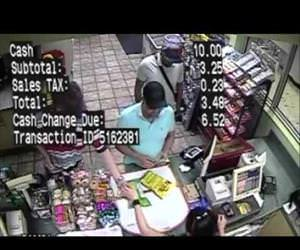 criminal installs credit card skimmer in 2 seconds Funny Video