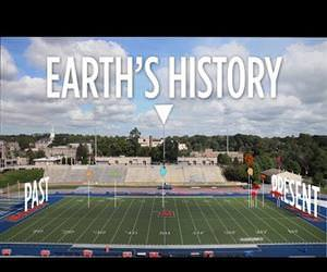 history of earth on a football field Funny Video