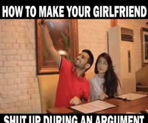 how to make your girlfriend quiet Funny Video