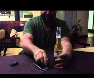 how to shotgun a bottle of beer Funny Video