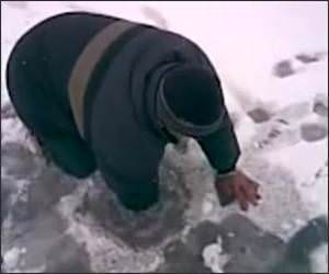 Ice Fishing in Russia Funny Video