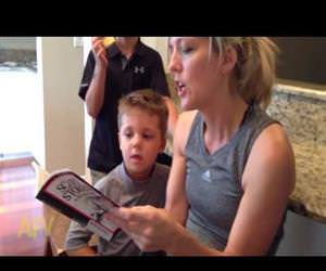 mom reads scary story Funny Video