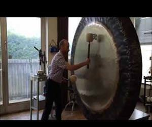that is a super huge gong Funny Video