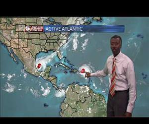 the best weatherman ever descrives hurricane Funny Video