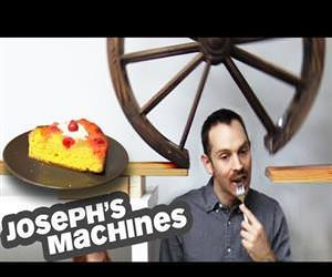 the goldberg machine that delivers cakes Funny Video